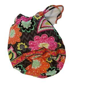 Vera Bradley Drawstring Pouch Lined Floral Paisley